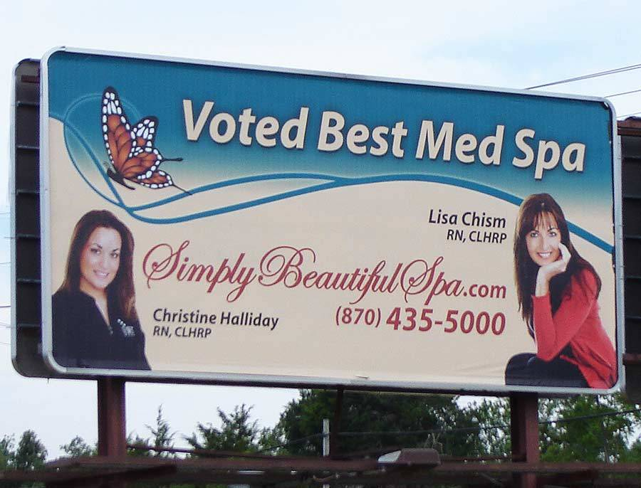 Simply Beautiful Spa - Billboard