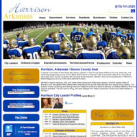 City of Harrison, Arkansas - Website, Mobile Site