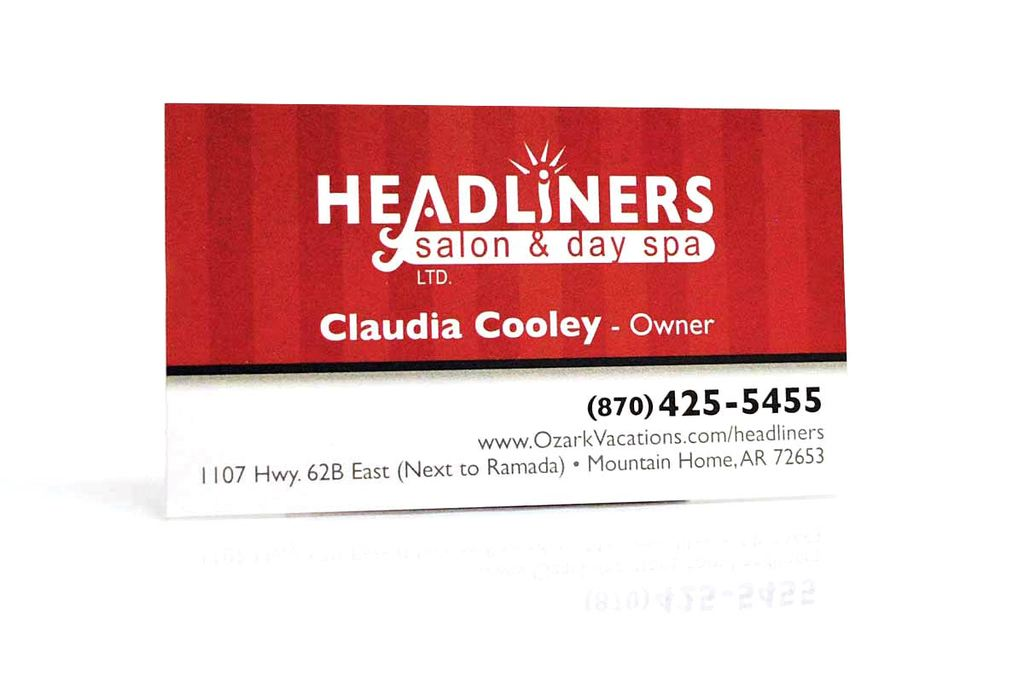 Headliners Salon & Day Spa - Business Card