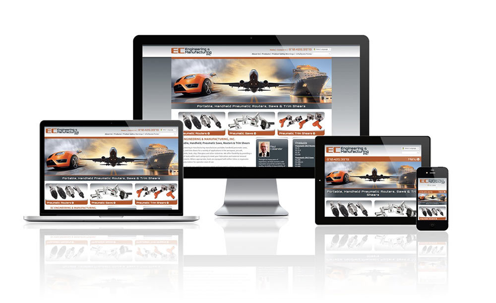 EC Engineering & Manufacturing - Responsive Website