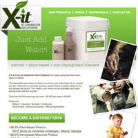 X-it Hand Cleaners - Website