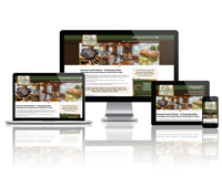 The Grill at Whispering Woods Cabins - Responsive Website