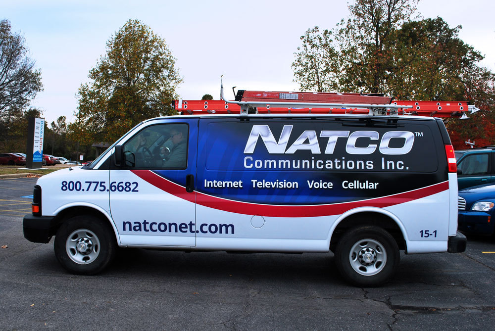 NATCO Communications - Design & Coordination of Vehicle Vinyl Wrap