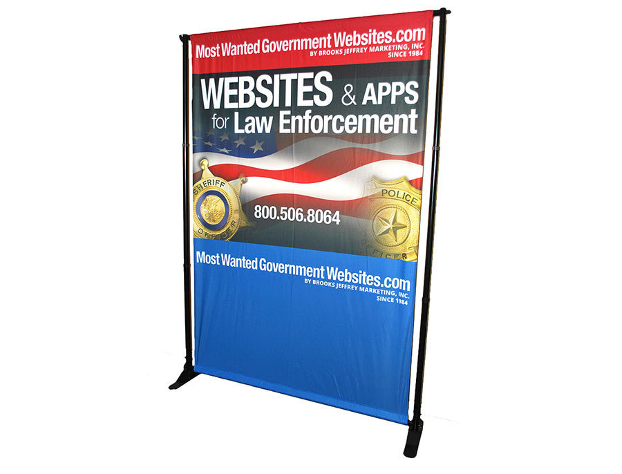 Most Wanted Government Websites - Fabric Back Wall Exhibit