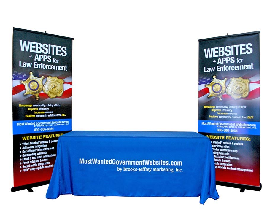 Most Wanted Government Websites - Retractable Banners & Table Throw