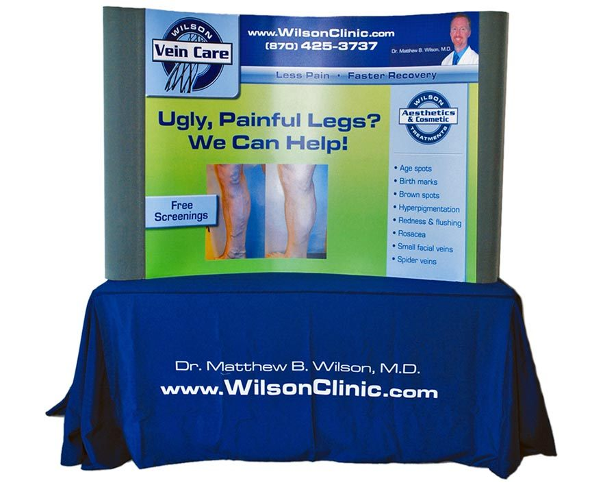 Wilson Clinic - Table Top Booth & Table Throw