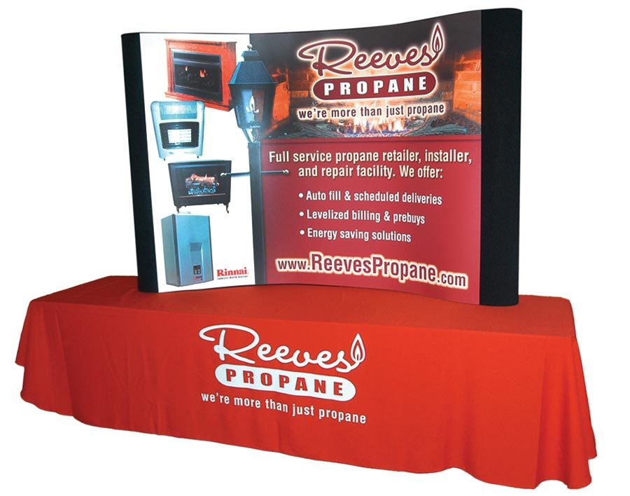 Reeves Propane - Table Top Booth & Table Throw