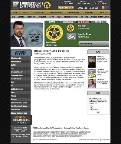 Faulkner County Sheriff - Website, Mobile Site