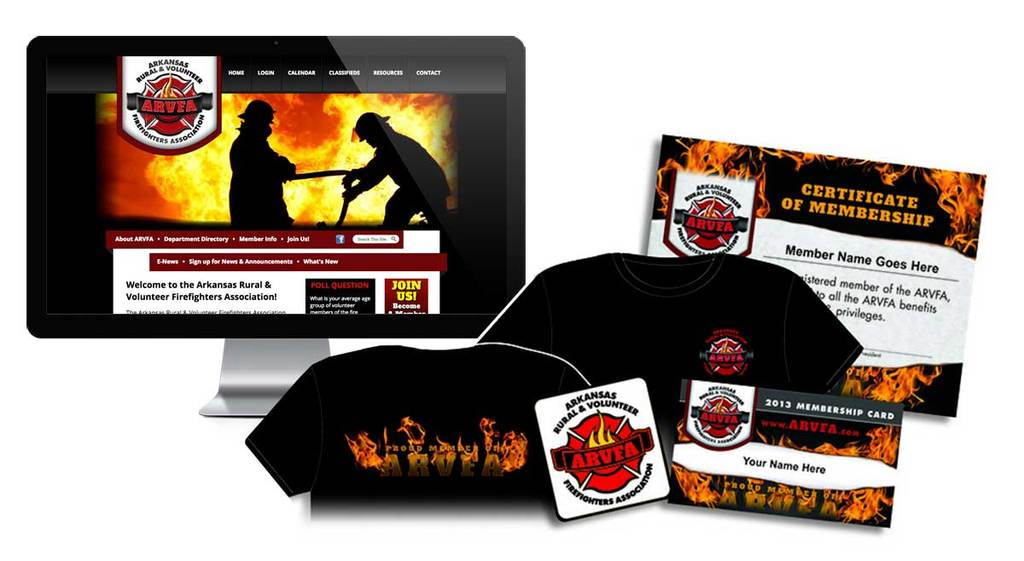 Arkansas Rural & Volunteer Firefighters Association - Branding
