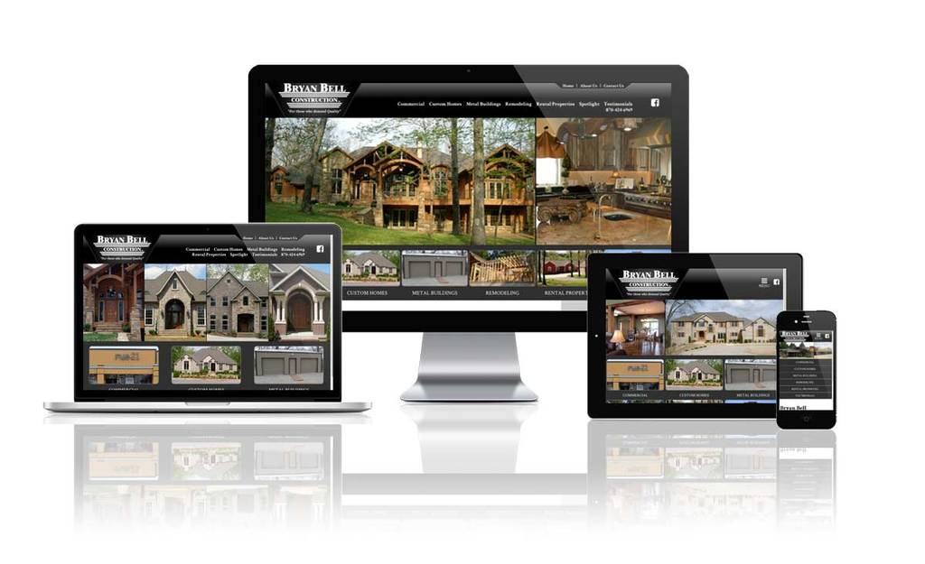 Bryan Bell Construction - Responsive Website