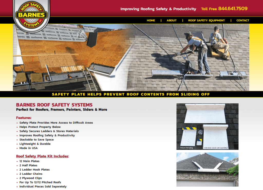 Barnes Roofing - Responsive Website