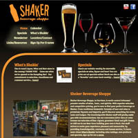 Shaker Beverage Shoppe - Website