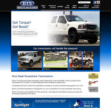Brian's Truck Shop - Website