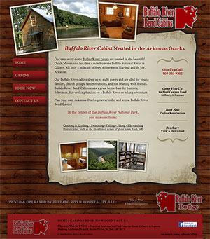 Buffalo River Bend Cabins - Website