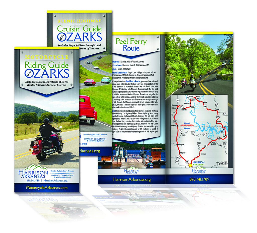 Motorcycle Riding Guide of the Ozarks - Brochure
