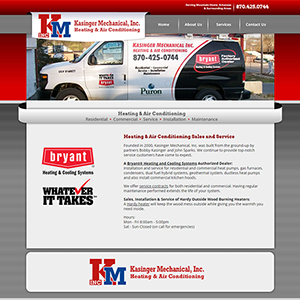 Kasinger HVAC - Website, Mobile Site