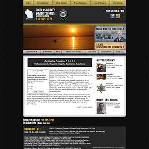 Douglas County Sheriff - Website, Mobile Site
