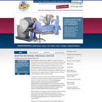 Baxter Regional Medical Center - Website, Mobile Site
