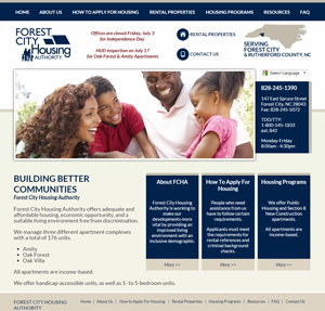 Forest City Housing Authority - Website