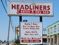 Headliners Salon & Day Spa - Premise Sign