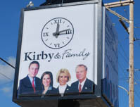 Kirby & Family Funeral & Cremation Services - Clock Sign