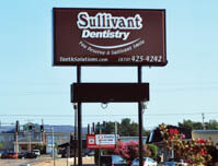 Sullivant Dentistry - Premise Sign with Electronic Reader Board