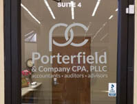 Porterfield & Company CPA, PLLC - Door Sign
