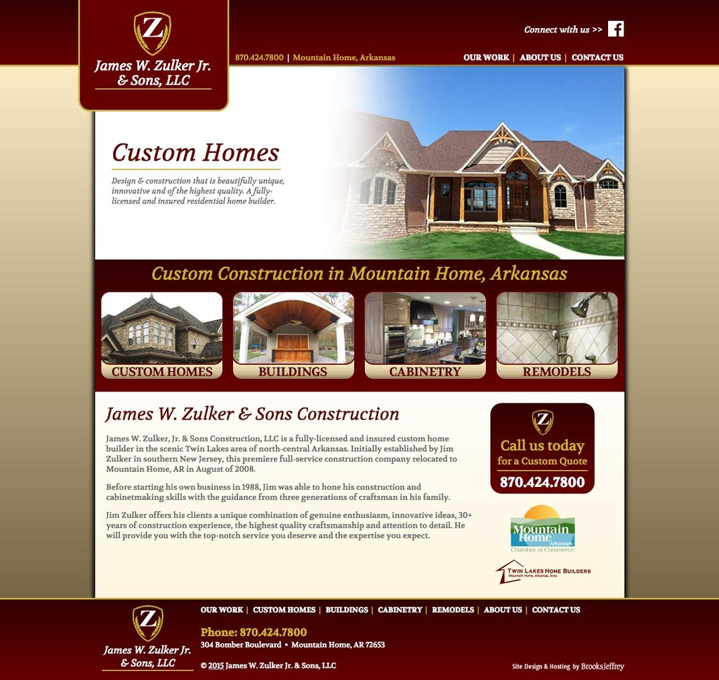 James Zulker & Sons - Website